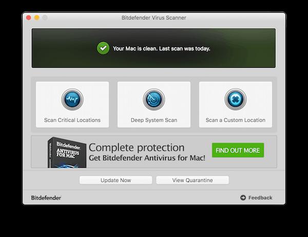 Virus auf Mac entfernen mit Bitdefender
