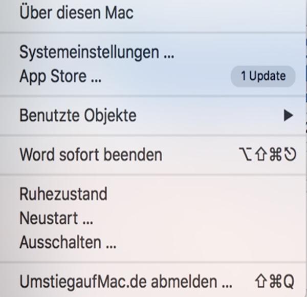 Mac Menüleiste